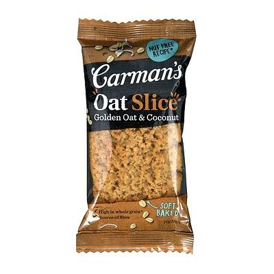 Carman's Golden Oat & Coconut Slice 70g Healthy Snack Australian-made Natural