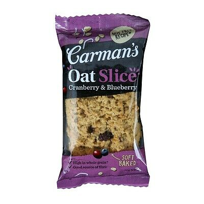 Carman's Cranberry & Blueberry Oat Slice Healthy Snack 70g Australian-made • AUD 1.35