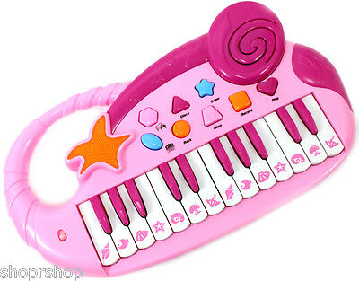 Musical Fun Electronic Piano Keyboard for Kids with Record and Playback PinK NEW