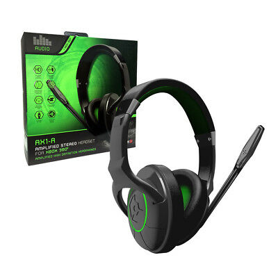 Gioteck AX1-R Amplified Stereo Headset USB Game & Chat for Xbox 360