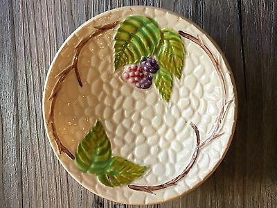 BRAMBLE by Wade England 4'' Round Dish with Pink & Purple Berries PEBBLE PATTERN
