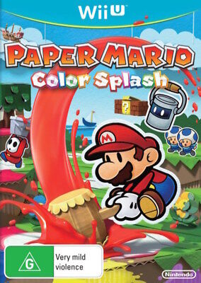 Paper Mario Color Colour Splash Wii U WiiU Game NEW