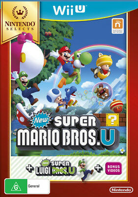 Nintendo Selects New Super Mario Bros. U + New Super Luigi U Wii U WiiU Game NEW