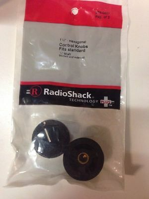 "1 1/4"" • Hexagonal Control Knobs Fits Standard #274-0407 By RadioShack"
