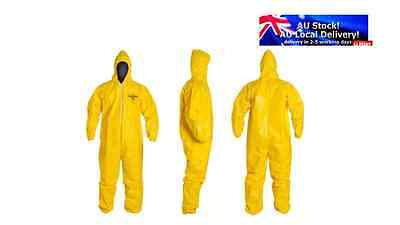 Dupont Tyvek Tychem C Cha5 Hooded Coverall Type 3 Yellow Over Sized Each