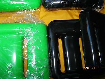 SCUBA DIVE WEIGHTS COATED Black & Neon Green for BCD ,BELT 10 Pieces 27+ POUNDS
