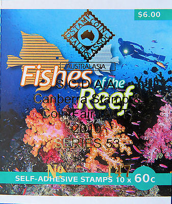 Australian Stamps: 2010 - Fishes of the Reef Pt 1 Overprint Booklet MNH
