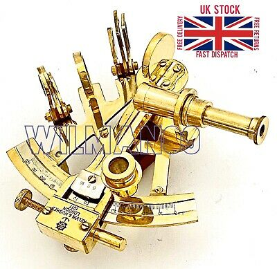 Brass Ship Sextant - Brass Marine Sextant - Kelvin & Hughes London 1917