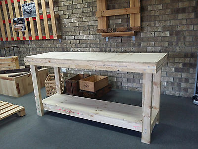 Premium Timber Work Bench - 1800 x 600mm 17mm Ply top Factory Direct Stock