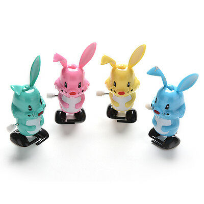 Wind up Rabbit Colorful Funny Somersault Walking Clockwork Kids Child Toys CCC