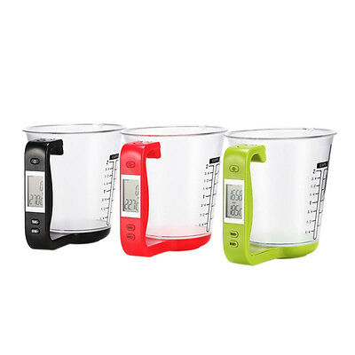 Digital Measuring  Electronic Cup Scale Kitchen Weigh Detachable LCD Display