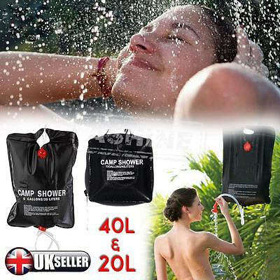 20L / 40L Solar Power Shower Camping Water Portable Sun Compact Heated Outdoor