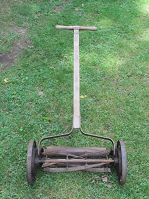 ANT/VTG/ Primitive PUSH MOWER  Cast Iron Rotary REEL Push Lawn Mower