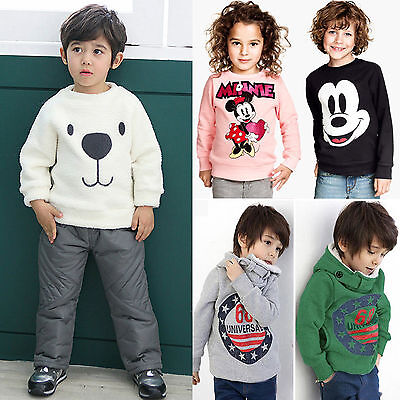 Kids Cartoon Sweater Long Sleeve Baby Boys HoodyT Shirts Tops Blouse Pullover