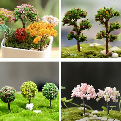 Miniature Dollhouse FAIRY GARDEN Enchanted Forest Tree House Plant Pot Decor DIY