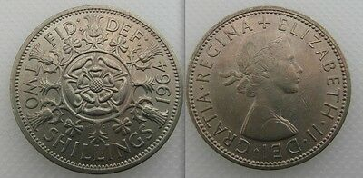 Collectable 1964 Queen Elizabeth II - Two Shillings Coin