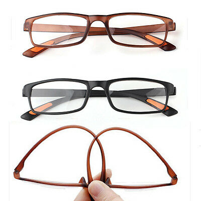 Unisex Flexible Reading Glasses Light Folding Eyeglasses Eyewear Resin 1.0-4.0