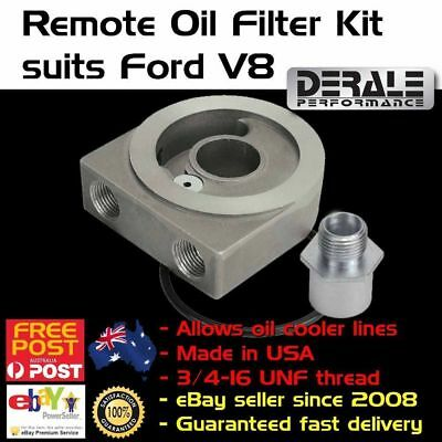 New Ford V8 & 6 Oil Filter Adaptor Adapter Spin on Sandwich Plate Cooler 1/2 NPT