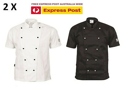 2 X Traditional Chef Jacket Short Sleeve DNC Work Wear 1101