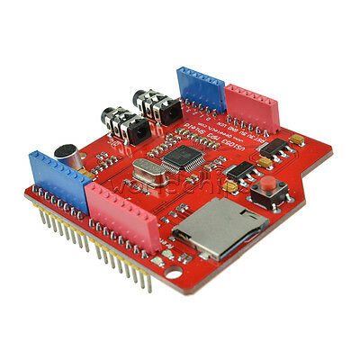 MP3 Music VS1053B shield board Module TF card slot work with Arduino UNO R3