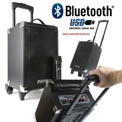"Cassa Amplificata Bluetooth Portatile Trolley Ricaricabile 260W 8"" Usb-Sd + Mic."