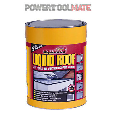 Everbuild Aquaseal Liquid Roof Waterproof Membrane Sealant 7kg Grey