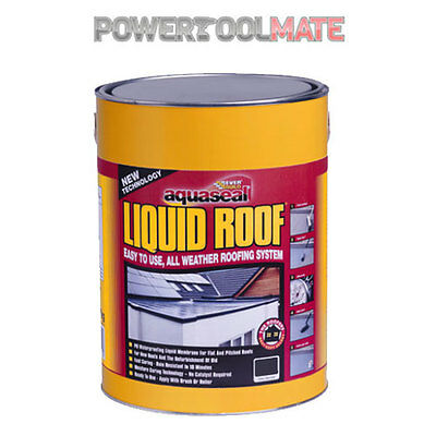 Everbuild Aquaseal Liquid Roof Waterproof Membrane Sealant 7kg Black