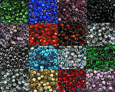 Loose Rhinestones lot 4.6 to 4.8mm (SS20) Hot Fix Iron on, 15 Colors to choose