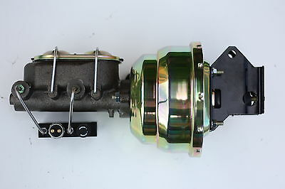 "1957-72 Ford Truck 8"" Dual Power Brake Booster, 1-1/8"" Master & Prop NEW E81C7"