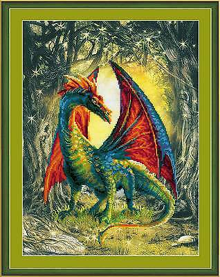 "Counted Cross Stitch Kit RIOLIS 0057 PT- ""Forest Dragon"""