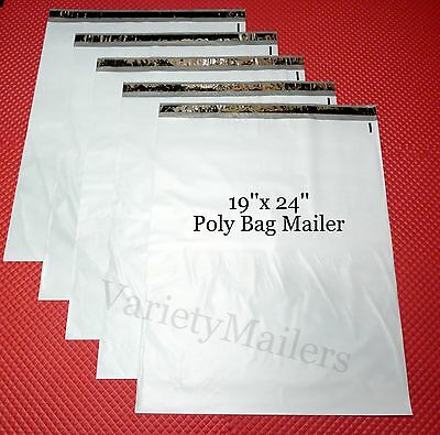"""5 Large 19""""x 24"""" Poly Bag Envelopes Plastic Shipping Mailing Postal Mailers"""