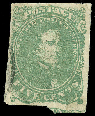 Confederate States of America, SC CSA #1, Used, Very Fine, SCV $175.00!