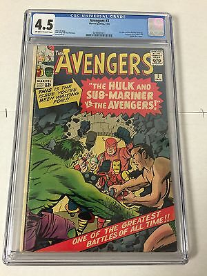 Avengers 3 Cgc 4.5 Ow/e Pages