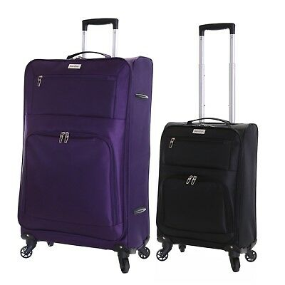 Lightweight 4 Wheeled Extra Large Cabin Trolley Luggage Suitcase Case Bag