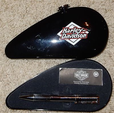 WATERMAN HARLEY DAVIDSON CHROME  PEN With GAS TANK CASE