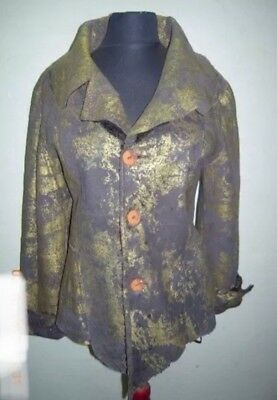 New Woman's Italian Reversible Vintage Shearling Coat/Jacket 100% Lambskin Sz M
