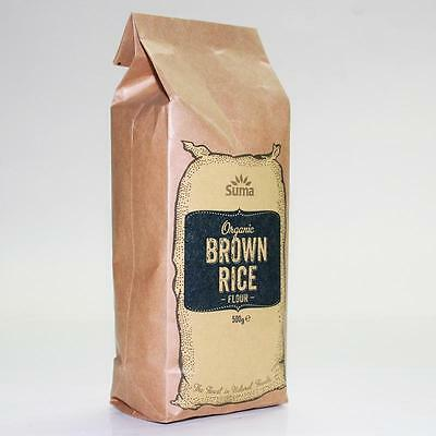 Suma * ORGANIC Brown Rice Flour 500g * Buy 2 and Save on P&P * Milled in the UK