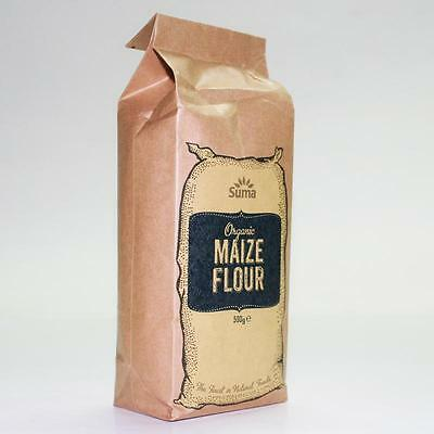 Suma * ORGANIC MAIZE FLOUR 500g * Buy 2 and Save on P&P * Produced in the UK *