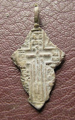 Antique Artifact > 18th-19th C Bronze Russian Orthodox Baptism Cross AA40-5