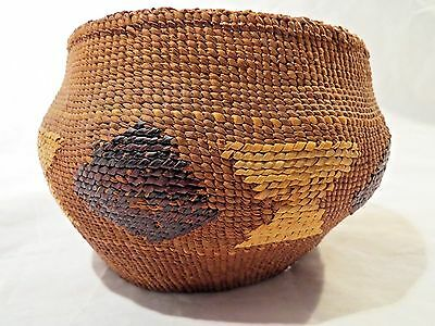 NATIVE AMERICAN TLINGIT BASKET circa 1920's