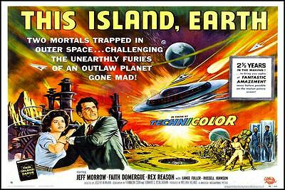 This Island, Earth Retro Movie Poster All Sizes Repro : #UC0848