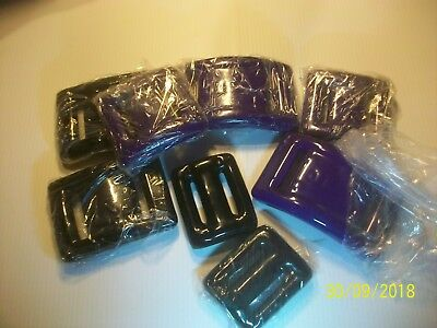 SCUBA DIVE WEIGHTS COATED Black & Purple for BCD or BELT 10 Pieces 30.6 POUNDS