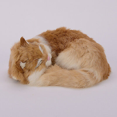 Simulation Cat Cute Small Animal Plush Toys Hand Made Gifts Model Decoration