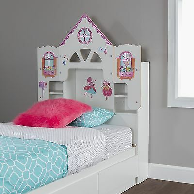 South Shore Furniture 39-Inch Dollhouse Themed Vito Bookcase Headboard with D...