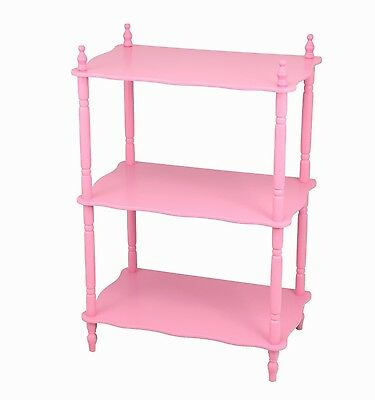 Frenchi Home Furnishing Kid's 3-Tier Shelves Pink