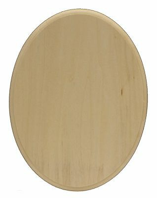 Walnut Hollow 6-Inch by 8-Inch by 3/4-Inch Basswood Oval Plaque Brown