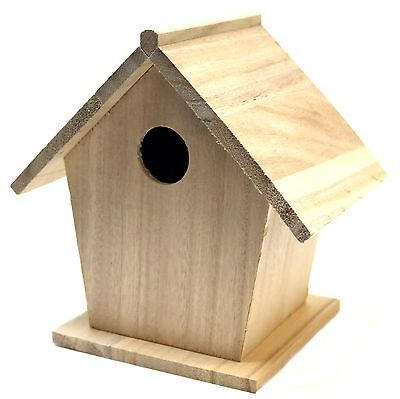 Plaid Wood Surface Birdhouse for Crafting (7 by 7-Inch) 97874
