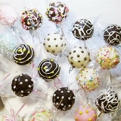 Chocolate Lollipop Cello Bag Cellop Clear for Party Gift Favor Candy Cookies 100