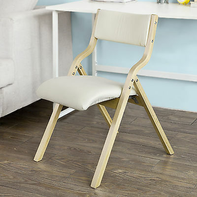 SoBuy® Wooden Padded Folding Dining Chair,Office Chair, Desk Chair,FST40-W,UK