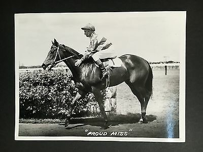"""HORSE RACING ORIGINAL PHOTO """"PROUD MISS"""" FROM 1960's"""
